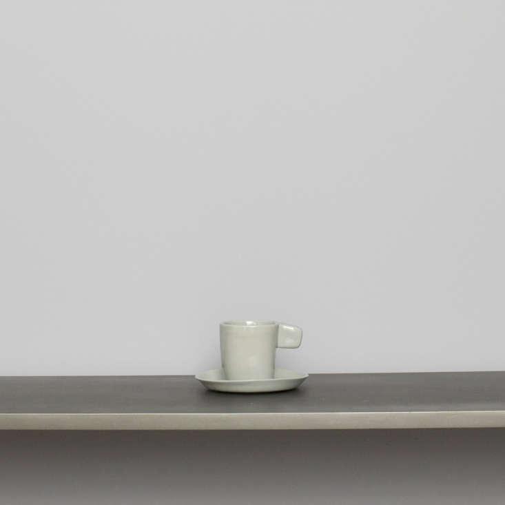 light gray espresso mug lusitano ceramic portugal