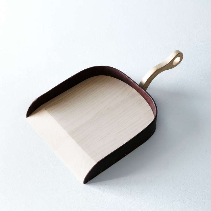 The maple and leather Belmont Dustpan is handmade in Philadelphia by Lostine; $84 from Food5