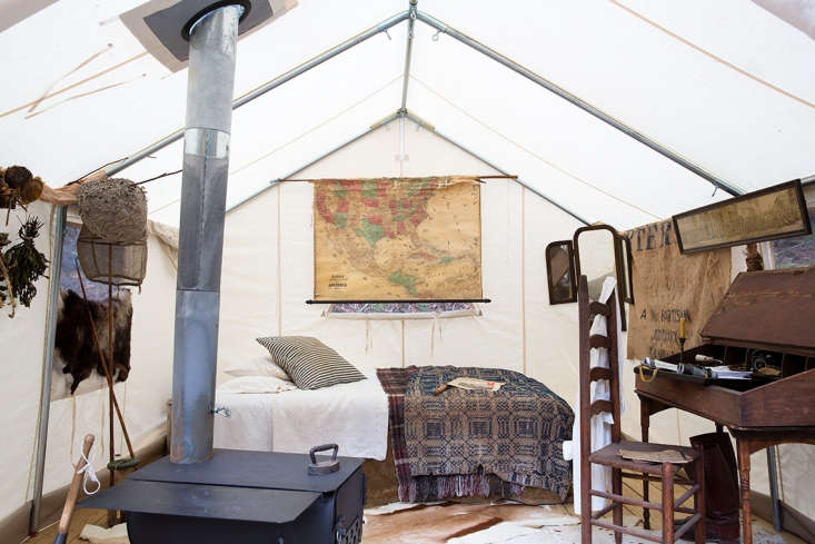 hermant and stanley are antiquesexperts and have outfitted their canvas tent  9