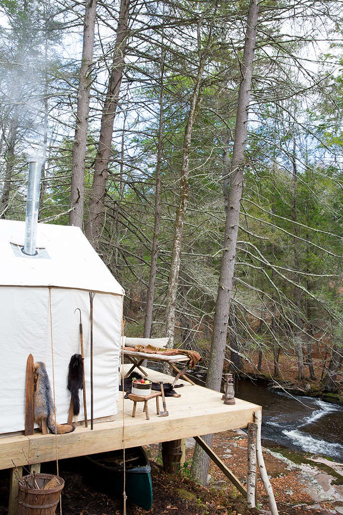 the campsite is located at the end of a dirt road with private riverfront. ther 13