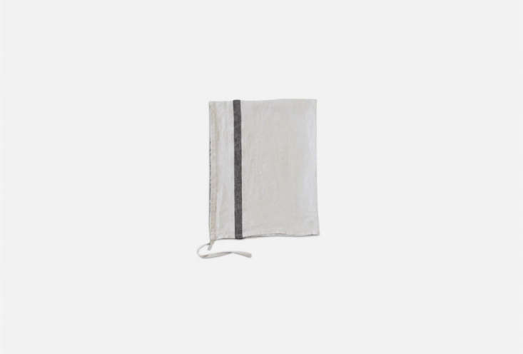 the merci glacier grey striped washed linen tea towel is \$\20.9\2 at merci. 19