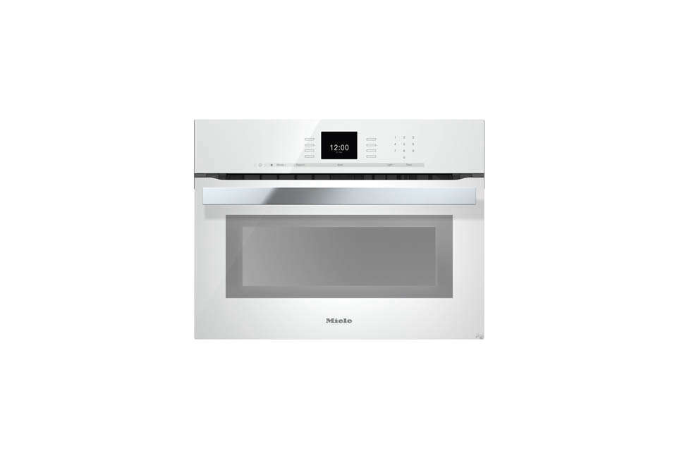 For a US version of the white wall oven, the Miele PureLine SensorTronic -Inch Electric Wall Oven is $3,9 at AJ Madison, and the Frigidaire -Inch Electric Wall Oven is $src=