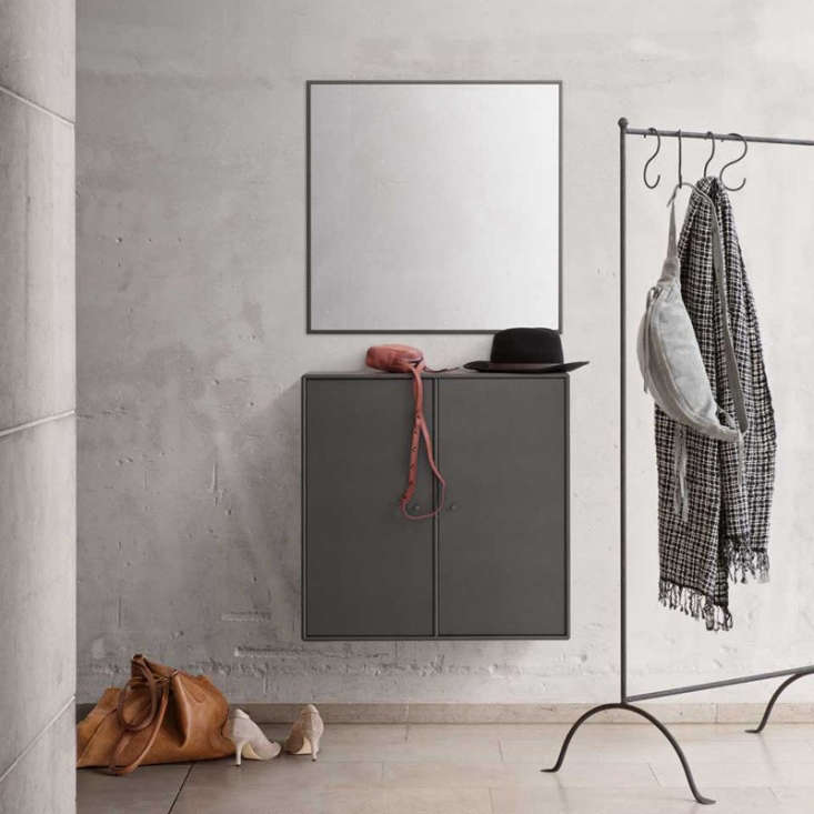 This combination entry cabinet and square mirror is known as Welcome; $loading=