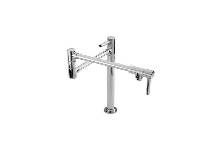 the newport brass satin nickel double handle deck mounted faucet is \$874.30 at 15