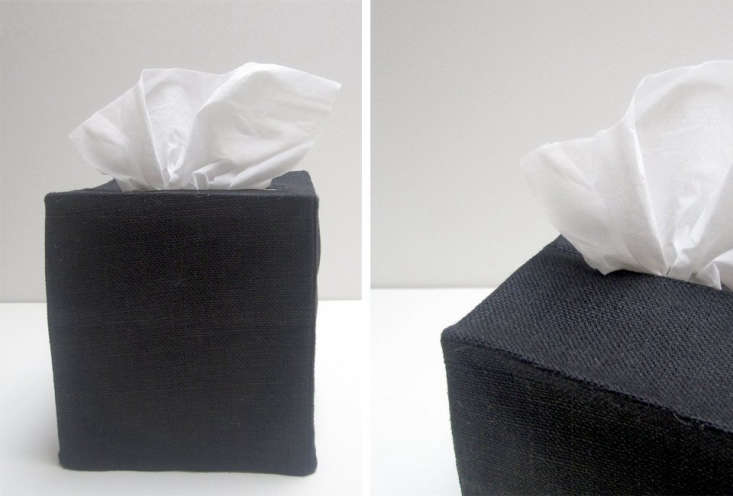 thepi'lo black linen tissue cover is available as a square (left) or rectan 19
