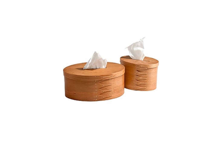 made by shaker of malvern, the oval tissue box is designed, according toshake 15