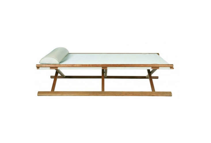 teak with a batyline cloth cover, tectona&#8\2\17;s tobago folding bed repr 17