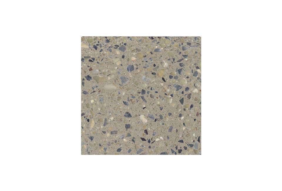 Slabs of traditional terrazzo can be sourced through Tectura Designs, including this Sage Terrazzo Slab, among other colors
