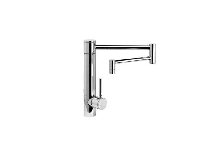 the waterstone hunley suite kitchen faucet with an \18 inch articulated spout i 14