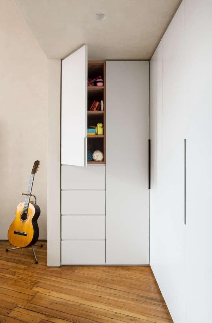 white storage closet hallway apartment 2