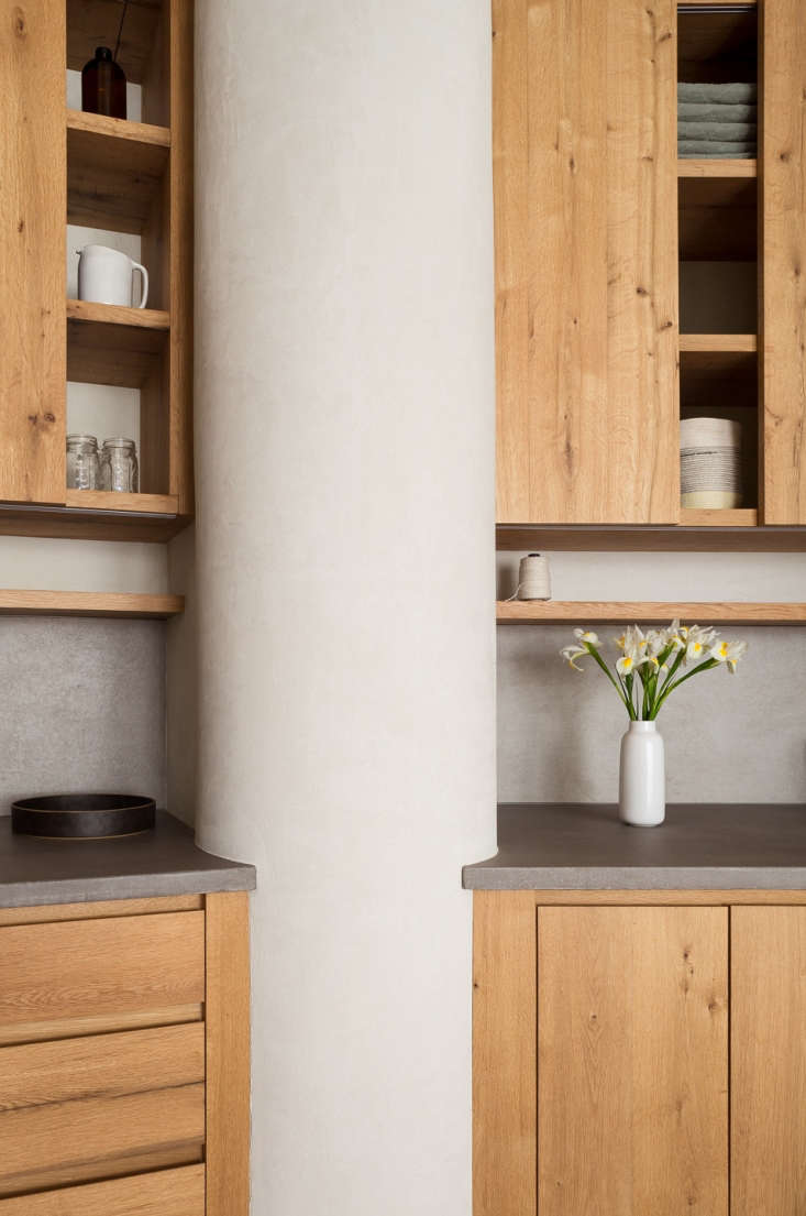 wood kitchen cabinets concrete counters 4