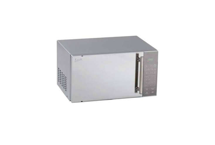 The Avanti Countertop Microwave Oven is a small microwave with a 0.8 cubic foot capacity,  power levels, and a mirror finish door; $