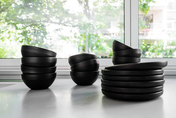 Based in Szczecin, Poland, Loft Kolasińki supplied this set of matte black tableware, which they say is a traditional style from eastern Poland.