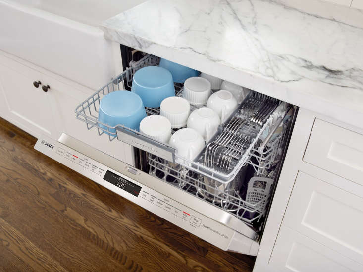 The newest Bosch dishwashers feature a third rack called MyWay™, which boasts the largest loading capacity of any third rack on the market, versus other major brands with a third rack. (&#8