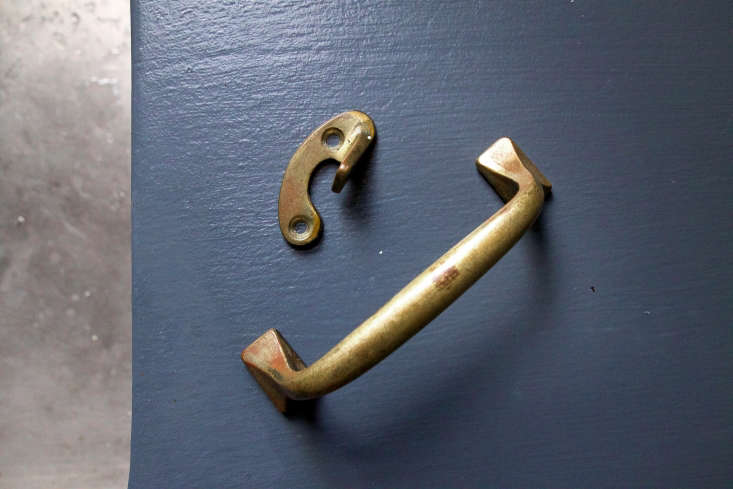 Domestic Science How to Polish Brass Cabinet Hardware The results of old varnish or stain, the brown discolorations on these two pieces needed to be cleaned with varnish remover.
