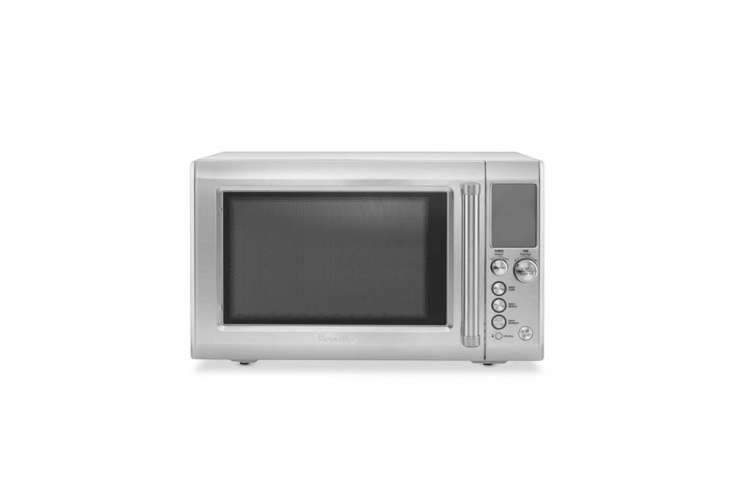 The Breville Quick Touch Microwave prompts you to enter the food type, quantity, and weight and its Sensor IQ technology detects the best cook time; $9.95 at Williams-Sonoma.For more on the functionality of the GE model, see the Consumer Reports review.