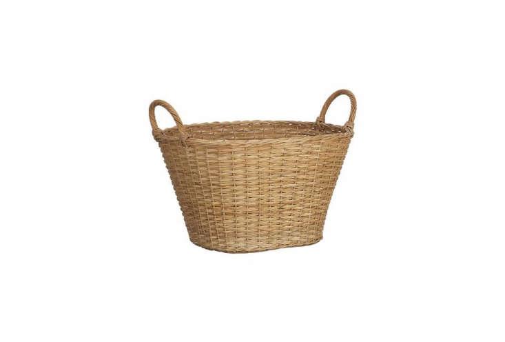 crate & barrel&#8\2\17;s wicker laundry basket is \$34.95. 21