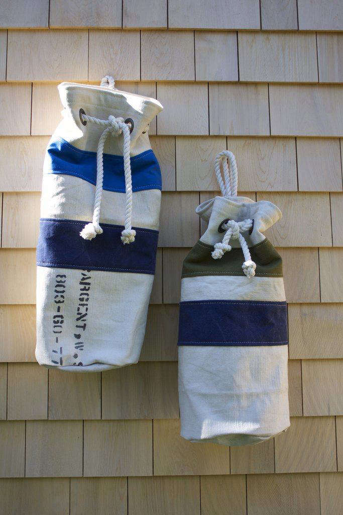 Theone-of-a-kindbuoy bags vary in size.