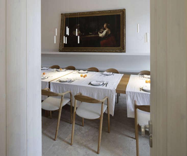 dining room hotel santa clara portugal oil painting