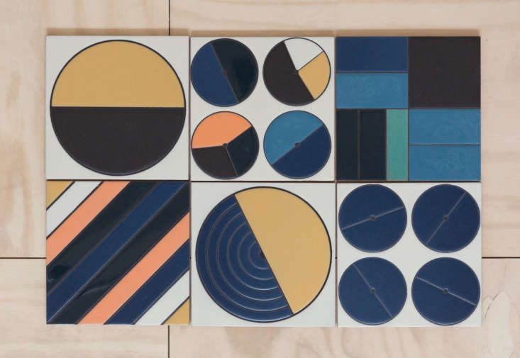 fireclay agrarian ceramic tile colorful patterns