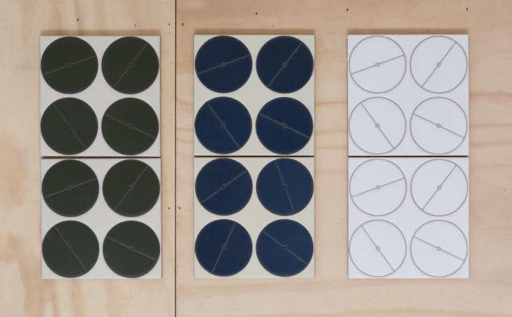 fireclay agrarian ceramic tile crop circles blue green white