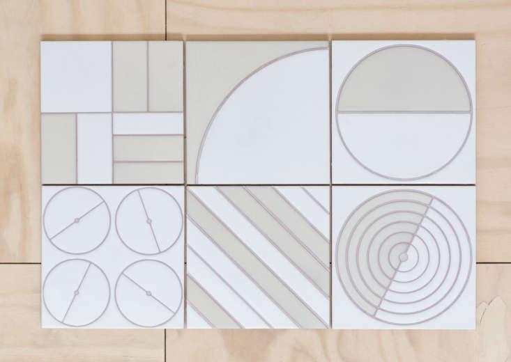 fireclay agrarian ceramic tile white patterns