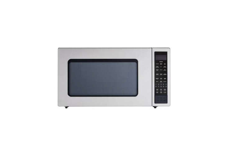 The Fisher & Paykel Countertop Microwave in Stainless Steel is twocubic feet and loading=