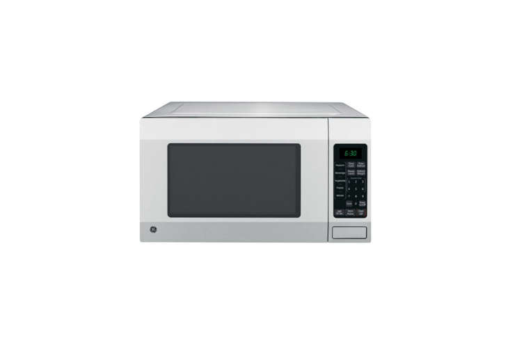 The GE Full-Size Microwave in Stainless Steel is loading=
