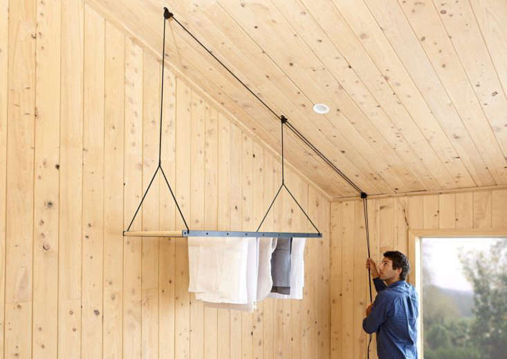Object of Desire A Hanging Laundry Rack from a New Zealand Maker George &Willy, based in a boat shed in New Zealand, specializes in &#8\2\20;life tools for humans around the world.&#8\2\2\1; Shown here: the Hanging Drying Rack, available for \$\267.