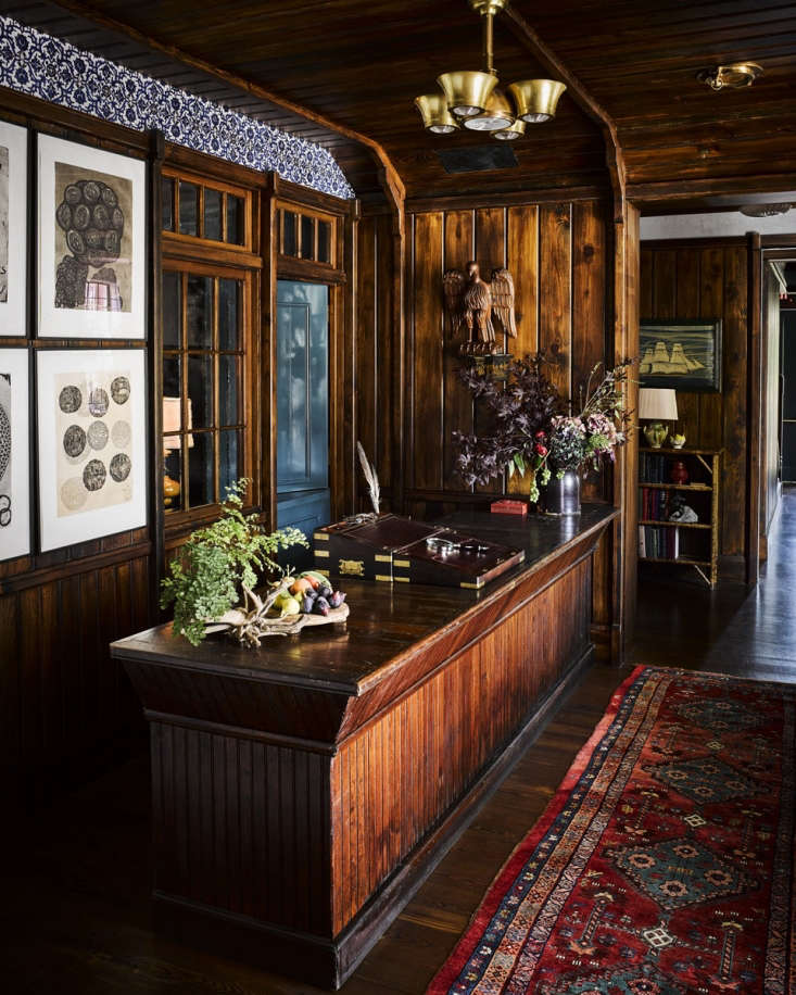 Greydon House A Seafarers Inn with Maritime Finds on Old Nantucket Guests check in amid planes of woodwork with a convincing patina and a colorful Moorish frieze.