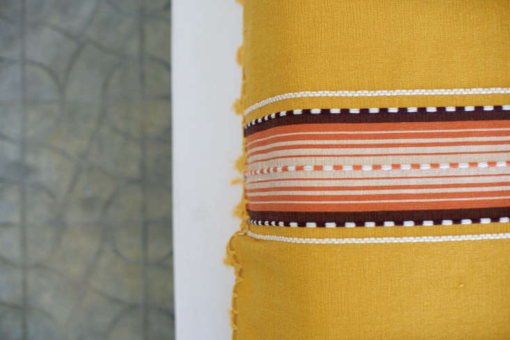 hotel san cristobal mexico detail yellow mexican blanket