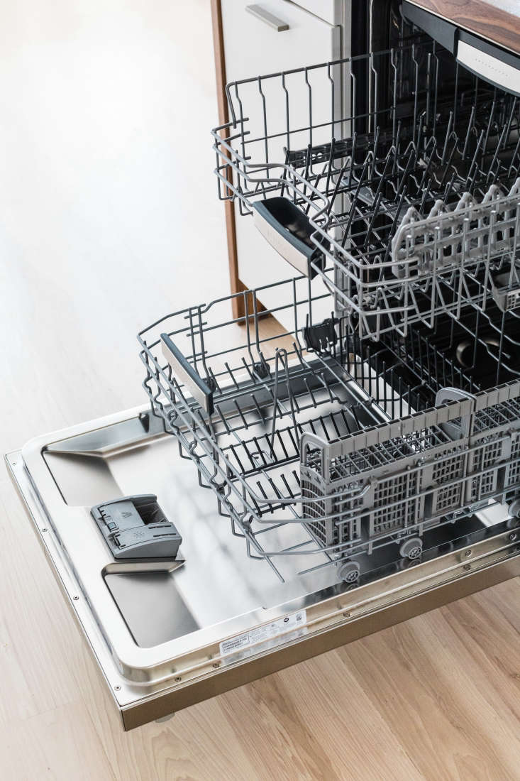 Our Bosch dishwasher is ready for the next load.