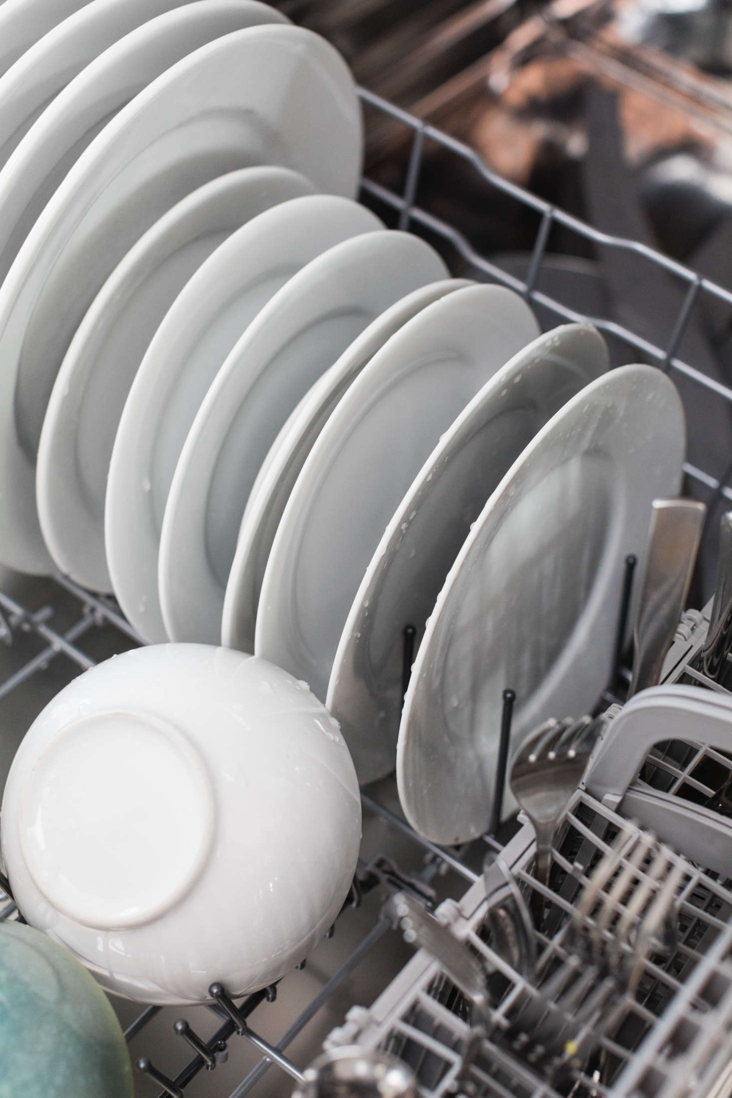 Contrary to popular belief, it is NOT necessary to rinse your dishes before loading them into the dishwasher. Most modern dishwashers are designed to handle, and actually perform better with, a bit of food.