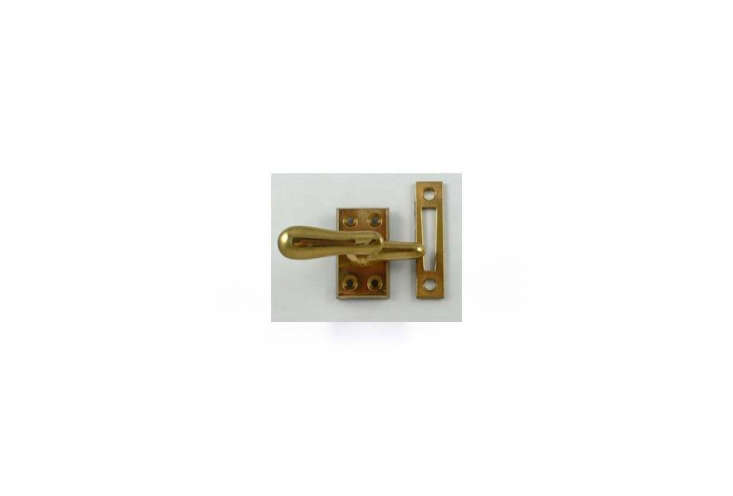 The brass latches on the windows and doors are Casement Fasteners from Liz&#8