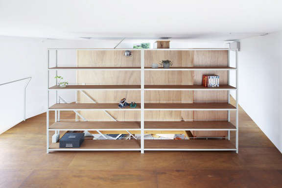 Lodge Furniture for the Urban Rustic from SNARK Japan Ideal for larger spaces, the Book Shelf is made of wood and steel;¥\108,000 (\$973.46).