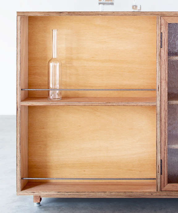 Lodge Furniture for the Urban Rustic from SNARK Japan Details of the Lauan Cabinet.