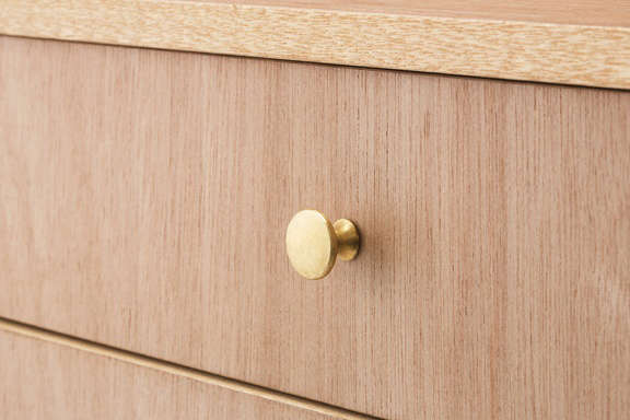 Lodge Furniture for the Urban Rustic from SNARK Japan A detail of the cupboard&#8\2\17;s brass hardware.