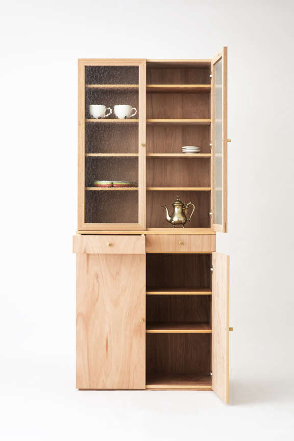 Lodge Furniture for the Urban Rustic from SNARK Japan The Lauan Series Cupboard features adjustable shelving and elegant brass hardware;¥\16\2,000 (\$\1,460.\19).
