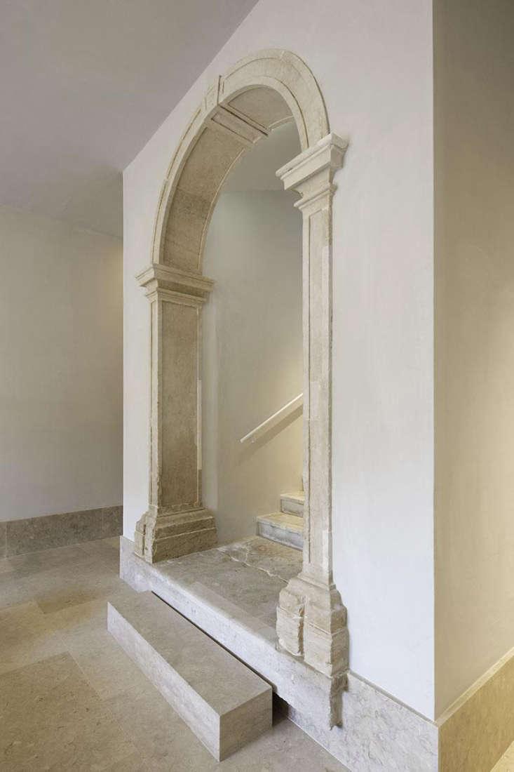 marble arched doorway in lobby santa clara hotel portugal