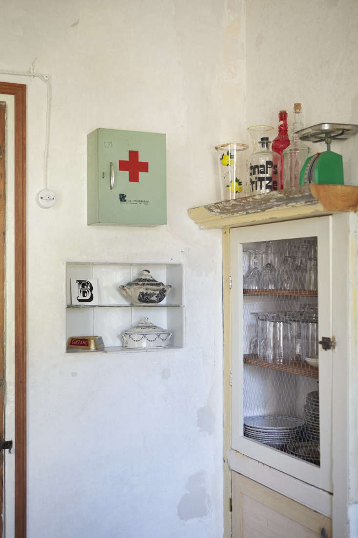 the medicine cabinet—used to hold vitamins and meds—traveled with benito an 16
