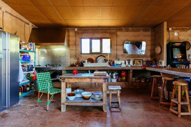 the designers converted an abandoned garden centerinto a summerhouse. its rus 18