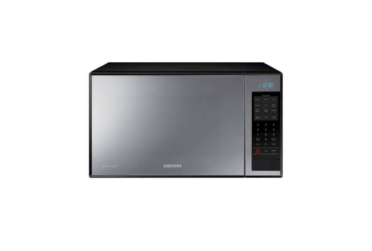 The Samsung Countertop Microwave in Stainless Steel with Shiny Mirror is loading=