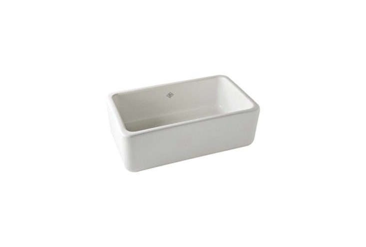 Shaw's Original 30 Fireclay Apron Front Sink from Rohl is a classic farmhouse sink, still individually made in Lancashire, England. The 30-inch-wide model is $loading=