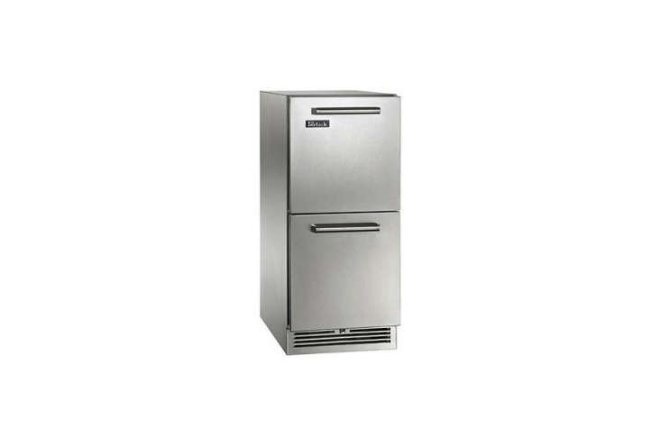 Addendum: A number of under-counter fridges are being made for use in outdoor kitchens (picture a well-stocked barbecue). Perlick, like Sub-Zero, manufactures its products in Wisconsin. A specialist in brewery parts, it offers a collection of refrigerator drawers, including these-Inch-Wide Signature Series Outdoor Refrigerator Drawers; $3,808 panel ready and $3,939 in stainless steel (shown).