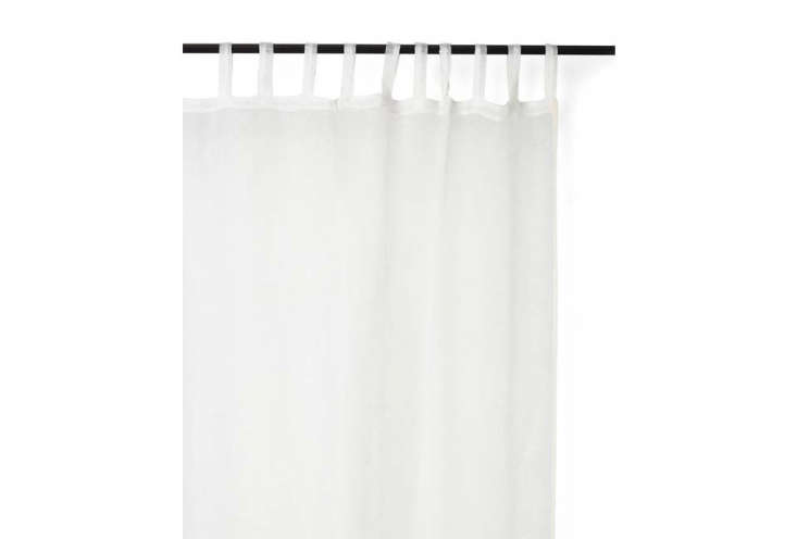 The Varanasi Netted Linen Curtain in White is $75 at ABC Carpet & Home.