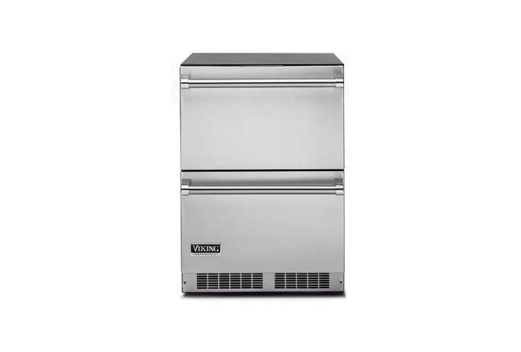 TheViking Professional 5 Series -Inch, Double-Drawer Refrigeratorismade of stainless steel inside and out; $3,4 from AJ Madison. See more atViking.