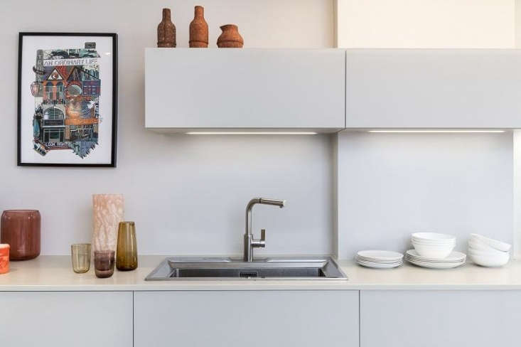white laminate kitchen stainless faucet from considered design awards