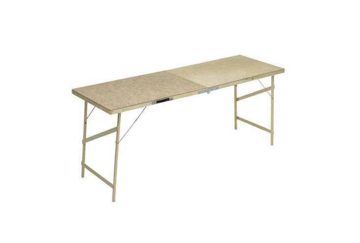 Golubovic sourced a vintage wallpaper table on eBay. APaste Table with Hardboard Top is£ from Wilko.