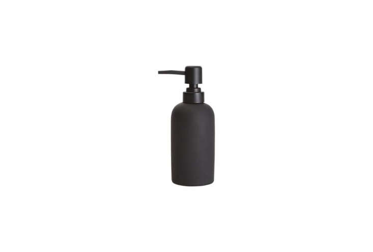 twocb\2 rubber coated soap pumps are filled with dish soap and hand soap; \$4 25