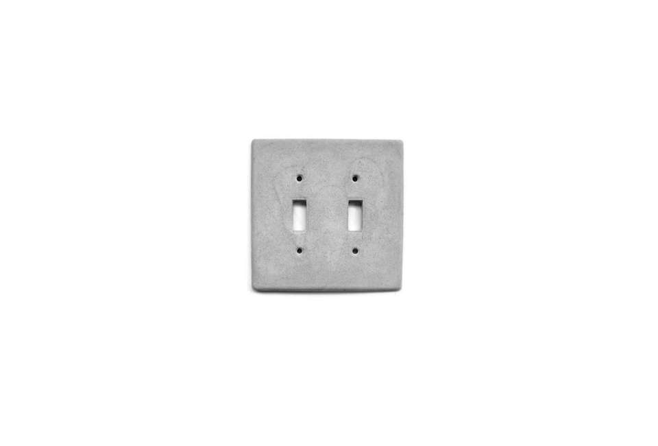 From Concrete House on Etsy the Concrete Double Switchplate is $..